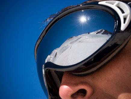 איש עם משקפי סקי (צילום: istockphoto)