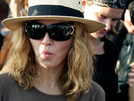 מדונה בכובע קש (צילום: Reuters)