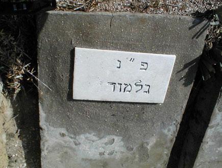 """קבר פ""""נ נלמוד בבית קברות טרומפלדור (צילום: איל שפירא)"""