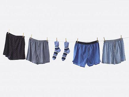 תחתונים וגרביים על חבל כביסה (צילום: jupiter images)