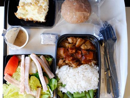 אוכל במטוס (צילום: iStock)