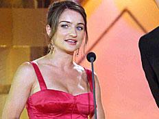 אניה בוקשטיין ורן דנקר בטקס פרסי הטלויזיה (צילום: עודד קרני)