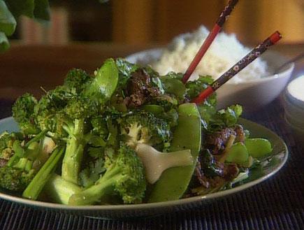 אנטרקוט עם ירקות ירוקים11473 (תמונת AVI: אהרוני מבשל לחברים1)