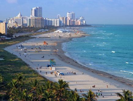 רצועת חוף במיאמי פלורידה (צילום: iStock)