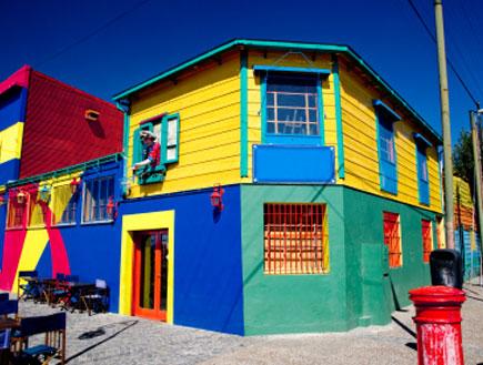 שכונת לה בוקה הצבעונית בבואנוס איירס בארגנטינה