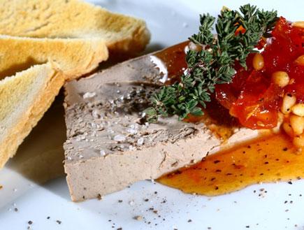 """פטה כבד עם ריבת עגבניות שרי-מסעדת מימה (צילום: יח""""צ)"""