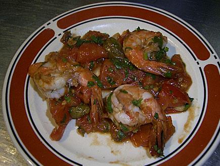 שרימפס של מסעדת קורדיליה (צילום: יח