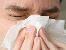 אדם חולה בשפעת
