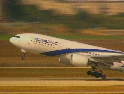 מטוס אל על ממריא (תמונת AVI: חדשות1 ערוץ 2)
