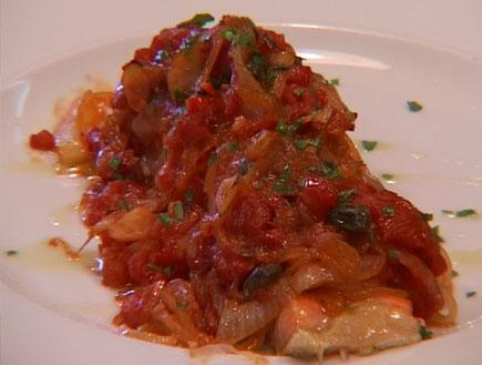 דג סלמון ברוטב עגבניות (וידאו WMV: mako)