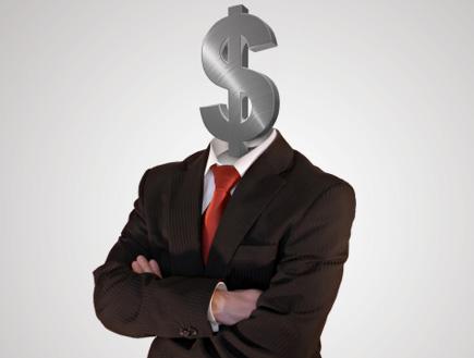 דולר במקום ראש (צילום: filmstroem, Istock)