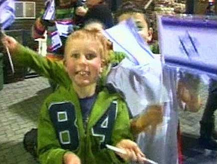ילדים קטנים עם דגלי ישראל (תמונת AVI: עדי רם, חדשות)
