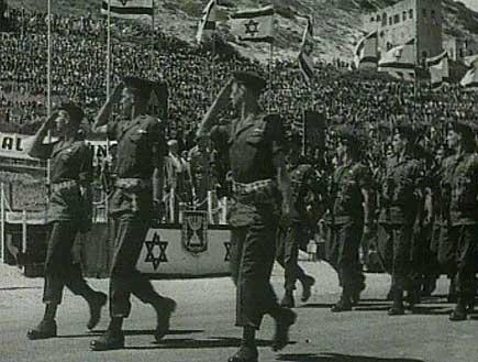 חיילים צועדים במצעד (תמונת AVI: עדי רם, חדשות)