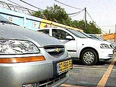 מכוניות במגרש מכירה (תמונת AVI: חדשות ערוץ 2)