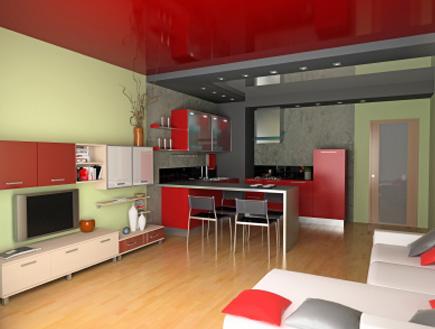 דירה מעוצבת קירות צבועים בירוק (צילום: vicnt, Istock)