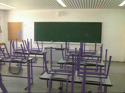 כיתה ריקה (צילום: ארכיון חדשרות ערוץ 2, חדשות)