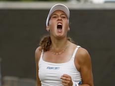 הטניסאית שחר פאר צועקת (תמונת AVI: עדי רם, רויטרס)