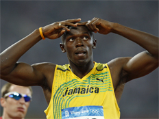 אוסיין בולט, ריצה, אולימפיאדה, 200 מטרים (צילום: חדשות 2)