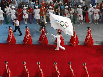 הנפת דגל האולימפיאדה (וידאו WMV: רויטרס, חדשות)