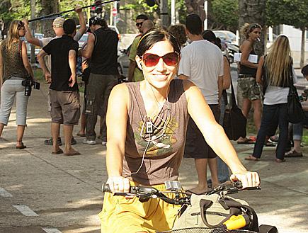 ורד פלדמן פפראצי אופניים (צילום: פאפא סוכנות צילום)