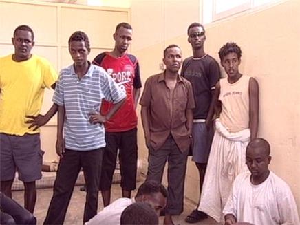 פליטים אפריקאים (צילום: אור גץ, חדשות)