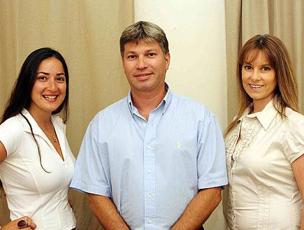 דר' שלמה לוי, דר' סילבינה מצקין לוי ורעות בר לב (צילום: עודד קרני)