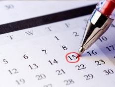 לוח שנה עם עט