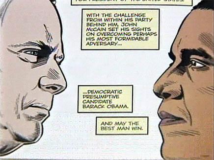 """קומיקס בחירות בארה""""ב (צילום: חדשות)"""