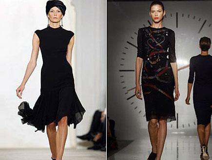 שחור שולט. עיצובים של סינתיה רויילי ורלף לורן