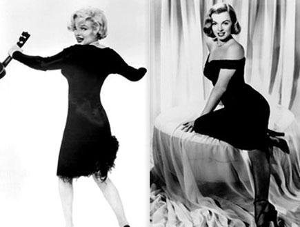 האגדה והאגדה: מרלין מונרו בשמלה שחורה קטנה (צילום: Hulton Archive, GettyImages IL)