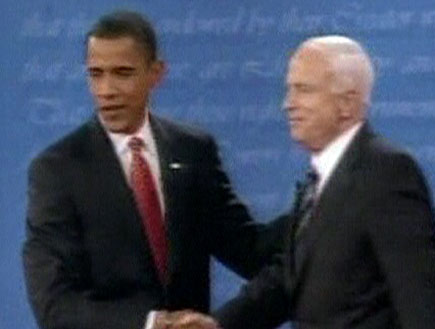 """ברק אובמה, ג'ון מקיין, בחירות, ארה""""ב, ארצות הברית,"""