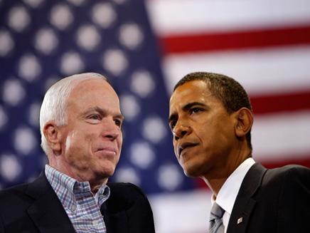 אובמה ומקיין, ארכיון  (צילום: חדשות)