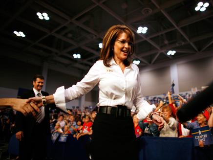 """שרה פיילין מועמדת לתפקיד סגנית נשיא לקראת הבחירות לנשיאות ארה""""ב בר (צילום: רויטרס)"""