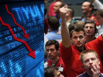 שוב: פרצופים ארוכים בבורסה (צילום: חדשות)
