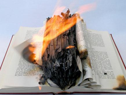 ספר עולה באש (צילום: istockphoto)