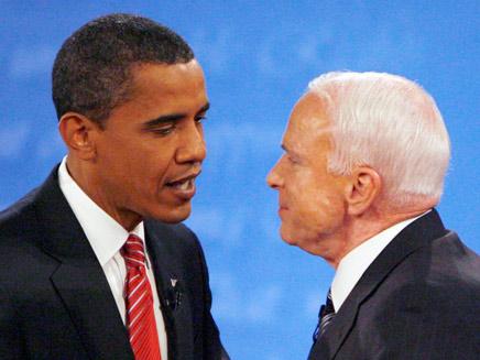 אובמה ומקיין - מתכוננים ליום הבחירות (צילום: חדשות)