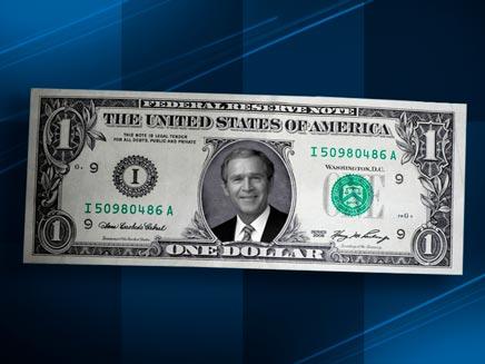 בוש על דולר, אילוסטרציה (צילום: חדשות)