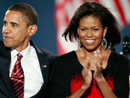 נשיא שחור באמריקה. ברק ומישל אובמה (צילום: Gettyimages IL, Getty images)