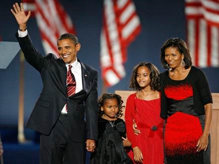 ברק אובמה ומשפחתו (צילום: רויטרס)