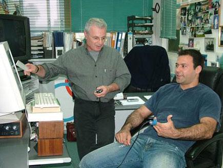 """ד""""ר בוריס בלומנשטיין ואריק זאבי (צילום: וינגייט)"""