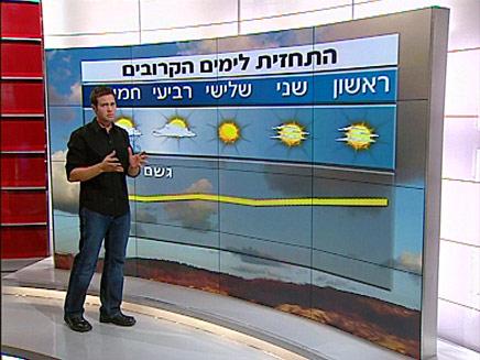 מגיש המזג אוויר (תמונת AVI: חדשות)