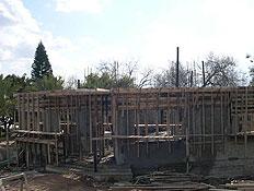 בית פרטי בשלבי בנייתו