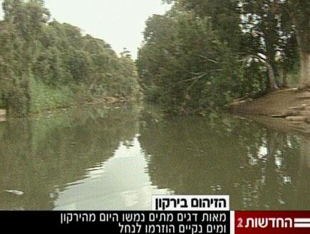 זיהום חמור בירקון (צילום: חדשות)