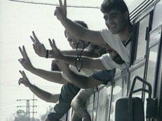 שחרור אסירים פלסטינים, ארכיון (וידאו WMV: חדשות)
