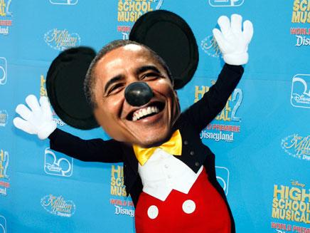 גם אובמה גדל על מיקי מאוס (תמונת AVI: רויטרס | חדשות 2)
