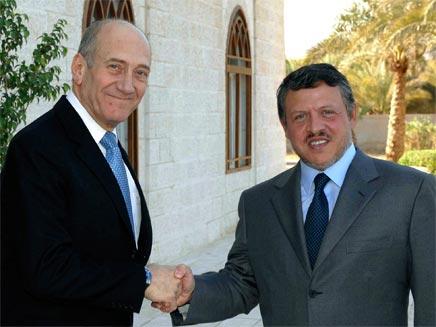 עבדאללה ואולמרט, ארכיון (צילום: רויטרס)