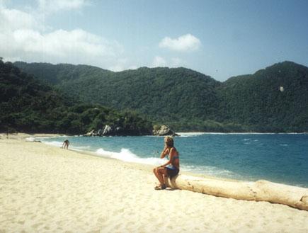 חוף בקולומביה (צילום: קרן שפירא)