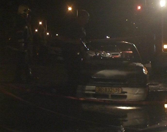 הרכב השרוף סמוך לטבעון, אתמול