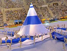 טקס המכביה באצטדיון טדי (צילום: David Silverman, GettyImages IL)