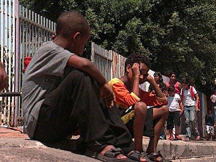 ילדים אתיופים ליד בית ספר, למצולמים אין קשר לכתבה (צילום: חדשות)